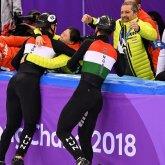 Történelmi siker a téli olimpián! Aranyérmes a gyorskorcsolya férfi váltó!
