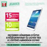 Nyerj Samsung Galaxy 3 Tab-ot, vagy szezonbérletet decemberben!