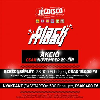 Black Friday a Jégdisco Szeged keretein belül! Akár 50%-os kedvezmény egyes termékekből!