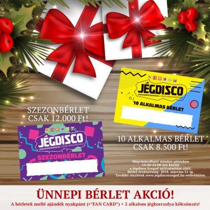 Egy ideális ajándék a karácsonyfa alá: Jégdisco Szeged bérlet!